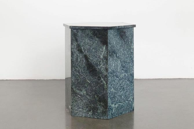 Green Marble Pedestal by HomesteadSeattle