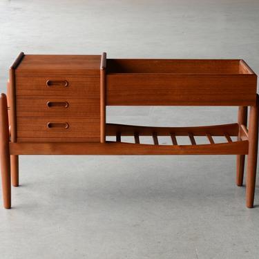 Arne Wahl Iversen Plant Stand Bench Danish Modern Teak by MadsenModern