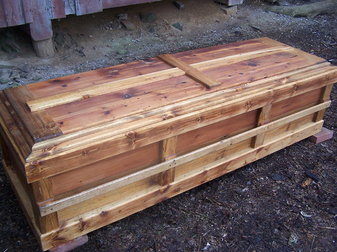 Reclaimed Knotty Pine Custom Casket By Barnwoodfurniture