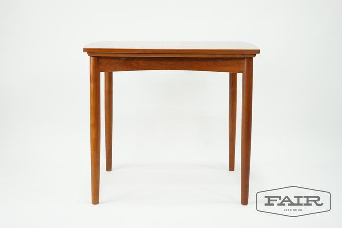 Teak Compact Expanding Flip Top Dining Table