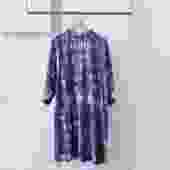 NaSuma Tie Dyed Mockneck Purple Dress
