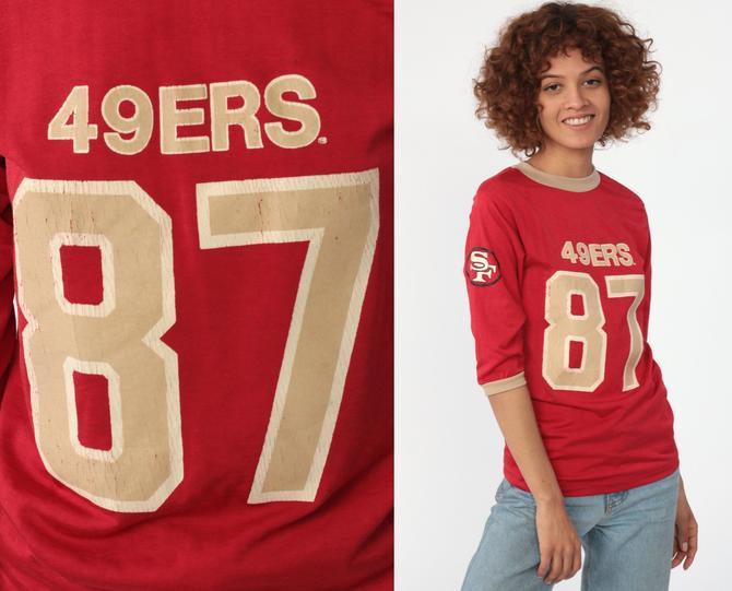 the best attitude 31f8d b132b 49ers Shirt Football Tshirt San Francisco 80s NFL T Shirt Football Jersey  87 Dwight Clark California Tee Sports Vintage Retro Extra Small xs by ...
