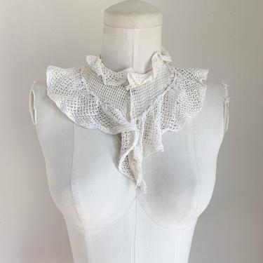 vintage 1930s Crochet Netting Collar by MsTips