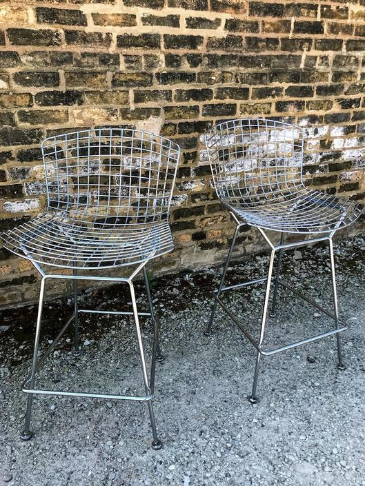 Bertoia Counter Stools by Knoll (A Pair)