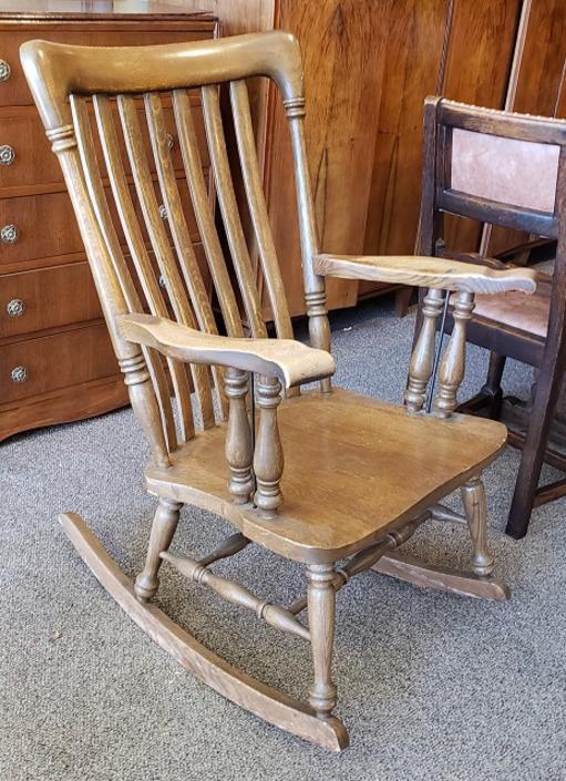 Item #AI1 Vintage American Oak Rocking Chair c.1920s