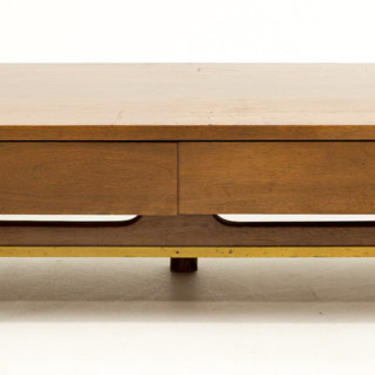 Merton Gershun American of Martinsville Mid-century Bench Console TV Stand Coffee Table by ModernHill