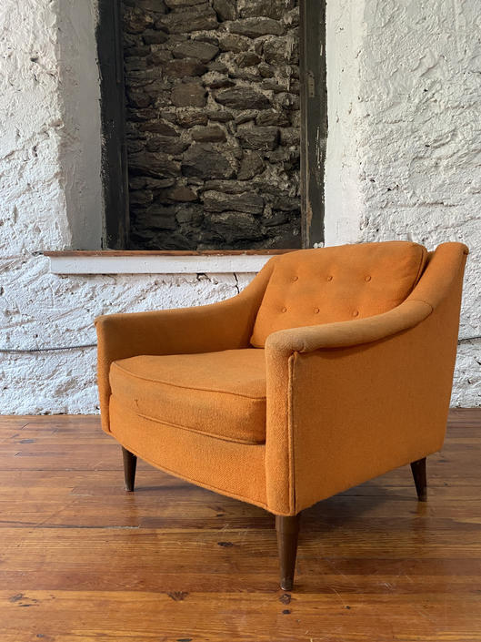 Mid century lounge chair Selig arm chair mid century modern side chair by VintaDelphia