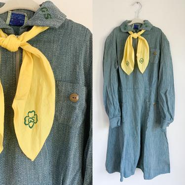 "Vintage 1930s-40s Girl Scout Uniform (+ 50s ascot tie) / 26"" waist by MsTips"