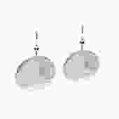 """Selah Vie 1.25"""" Hammered Disk earrings Silver"""