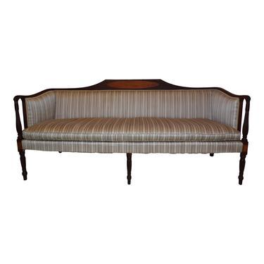 Antique Classical Federal Mahogany Sheraton Style 6 Leg Sofa Massachusetts