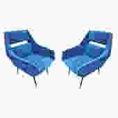 Pair of Italian Mid-Century Armchairs by Gigi Radice