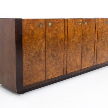 Milo Baughman Style Century Furniture Mid Century Burlwood Sideboard Buffet Credenza - mcm by ModernHill
