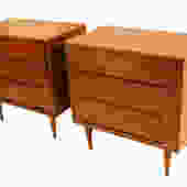 Pair Mid Century Dressers Chests Nightstand Tables by Marykaysfurniture