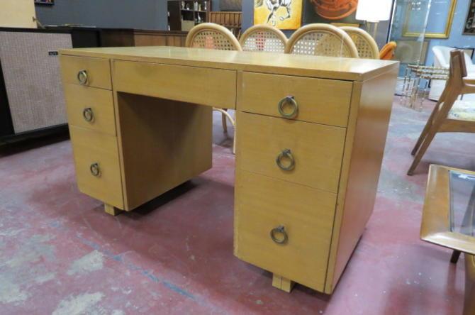 Vintage MCM John Widdicomb 7 drawer desk