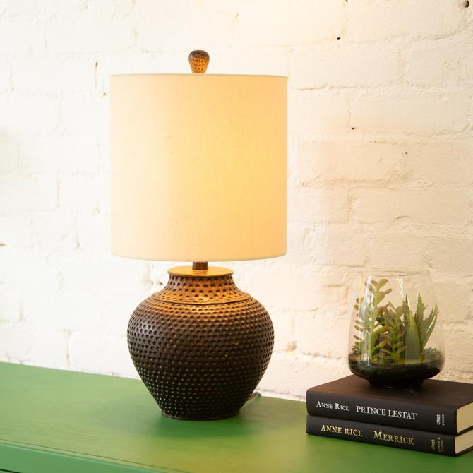 Hammered Brass Lamp