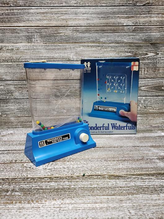Vintage Wonderful Waterfuls Tic Tac Toe Game, 1970's Tomy Corp, Vintage Water Game w/ Original Box, Retro Skill Game, Vintage Toys & Games by AGoGoVintage