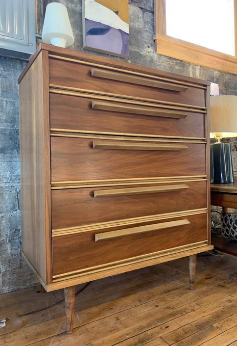 One-of-a-Kind Mid-Century Tallboy Dresser