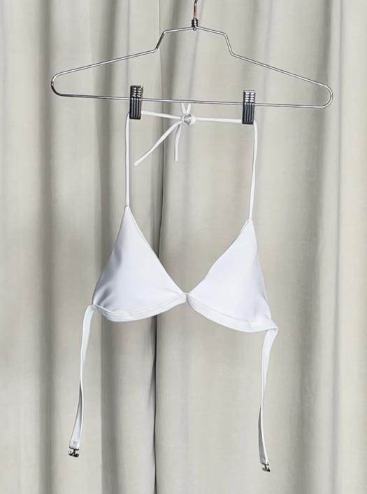 Vintage White Bikini Top