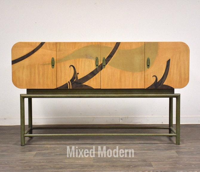 White Furniture Green Dye Credenza by mixedmodern1