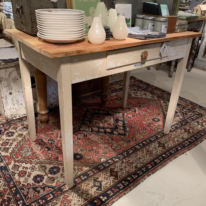Hoosier Table with Drawer