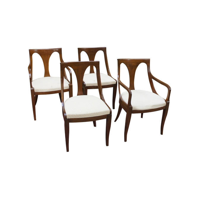 1980s Vintage Kindel Empire Dining Chairs - Set of 4 by MetronomeVintage