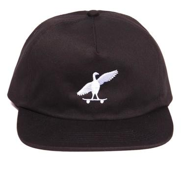 Skatebird 5 Panel hat (black)