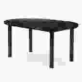 WYETH Original Round Ebonized Bamboo and Blackened Steel Dining Table