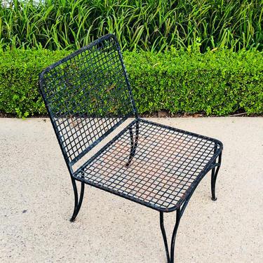 Mid-Century Modern Iron Patio Lounge Chair by VintageSupplyLA