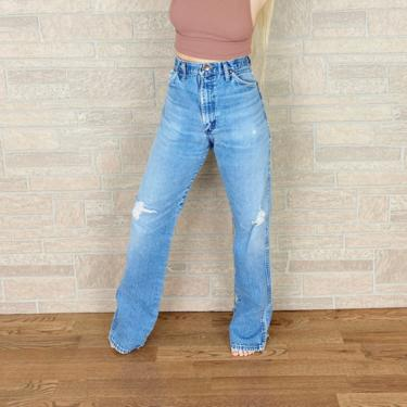 Wrangler Faded Distressed Western Jeans / Size 32 by NoteworthyGarments