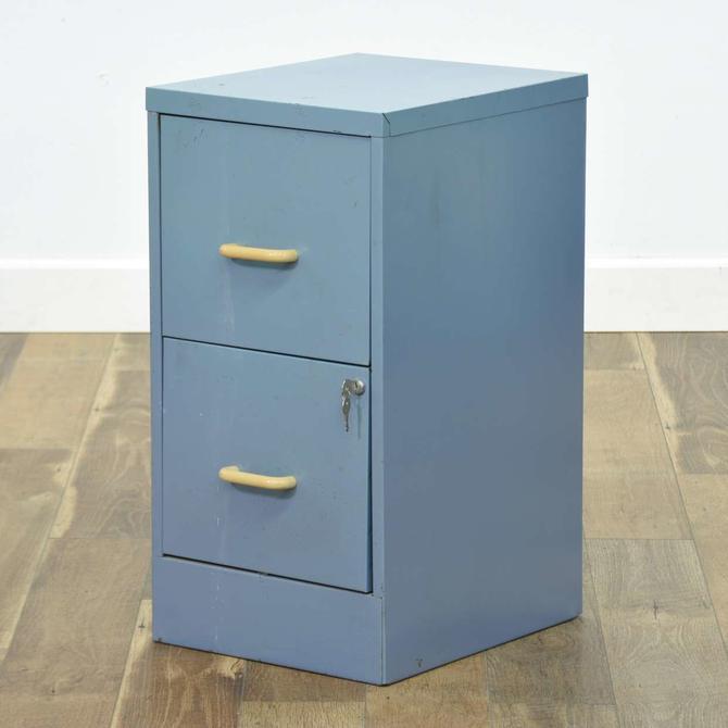 Powder Blue 2 Drawer File Cabinet