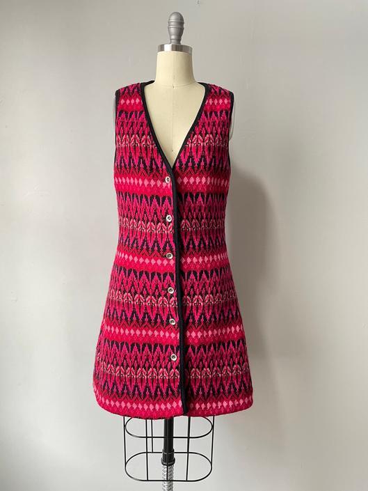 1970s Sweater Dress Icelandic Wool Knit S by dejavintageboutique
