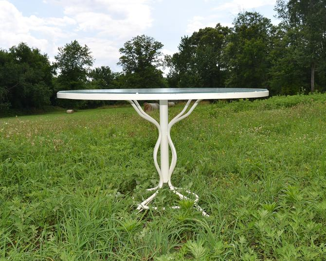 Vintage Russell Woodard Sculptura Metal Mesh Wrought Iron Dining Table  Mid Century Modern by HearthsideHome