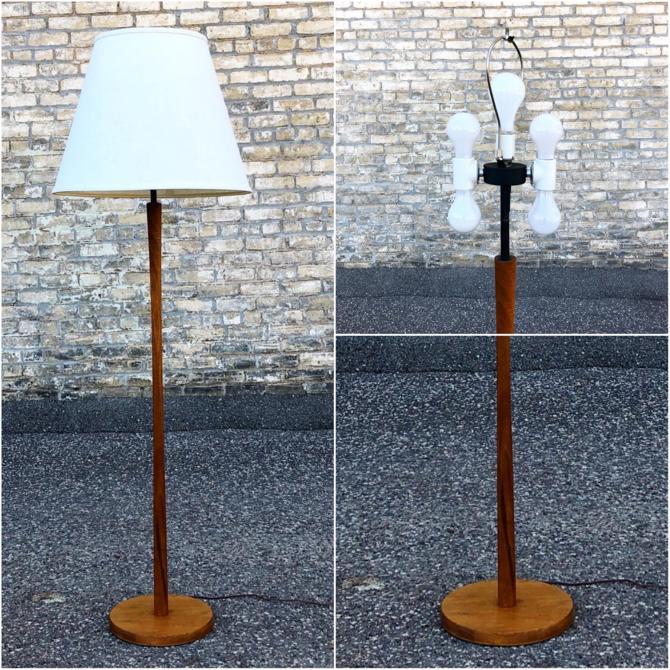 Martz 5-socket Walnut Floor Lamp