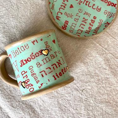 Ceramic coffee mug handmade, Best friend gift, Large pottery coffee mugs by claylicious