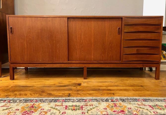 Vintage custom built Danish inspired Teak Credenza- 1960's
