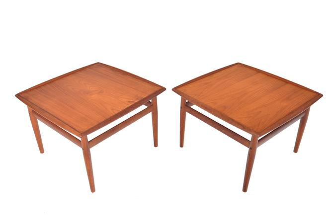 Pair of Danish Mid Century Modern Grete Jalk for Glostrup Teak Side Tables by MidCenturyMobler