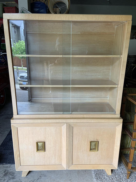 Gorgeous 1950s Mid Century China Hutch by DesertCactusVintage