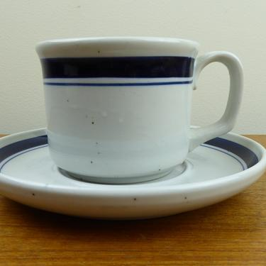 Lauffer Stoneware | Blueberry | Cup & Saucer(s) | Japan | 1970s by TheFeatheredCurator