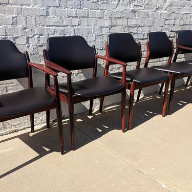Mid Century Modern Arne Vodder Dining Table and Chairs by VintageVaultTulsa