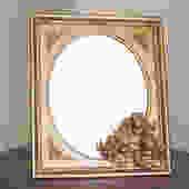 t34 italian table mirror applied angels