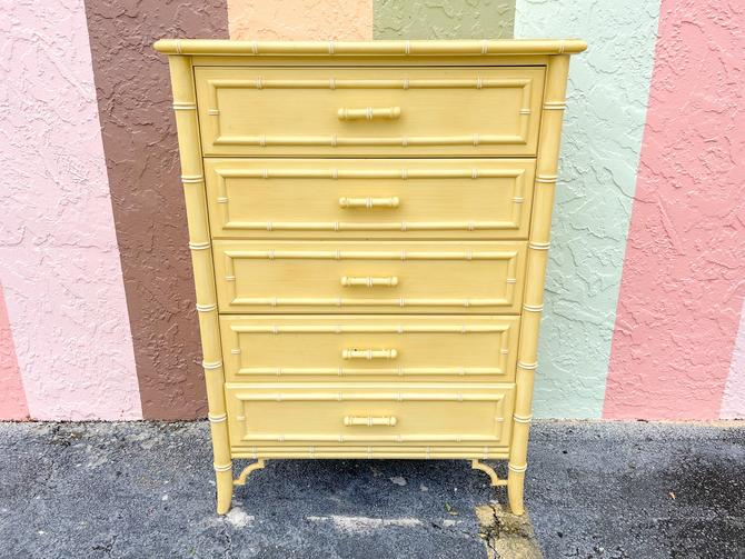 Faux Bamboo Tall Chest