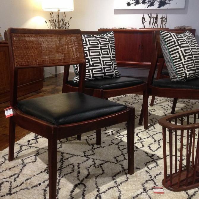 Set of 4 Jens Risom Teak Dining chairs