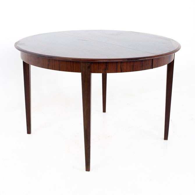 Dyrlund Mid Century Rosewood Expanding Round Oval Dining Table - mcm by ModernHill