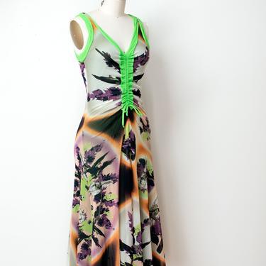 Parrot Print Mesh Dress   Jean Paul Gaultier by FemaleHysteria
