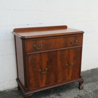 Mahogany Carved Ball and Claw Feet Server Buffet Bathroom Vanity by Finch 2402