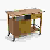 John Widdicomb Bar Cart \/ Server with Expanding Top