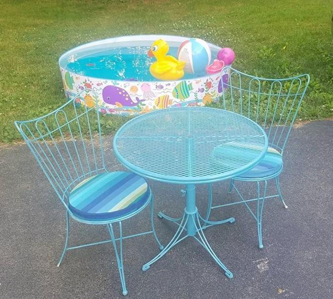Patio Table with matching Chairs,