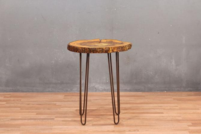 Natural Wood Hairpin-Leg Side Table – ONLINE ONLY