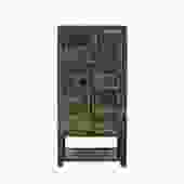 Oriental Distressed Glossy Haze Black Slim Storage Cabinet cs5419S