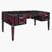 Lobel Originals Desk in Macassar Ebony with Leather Top - Made to Order